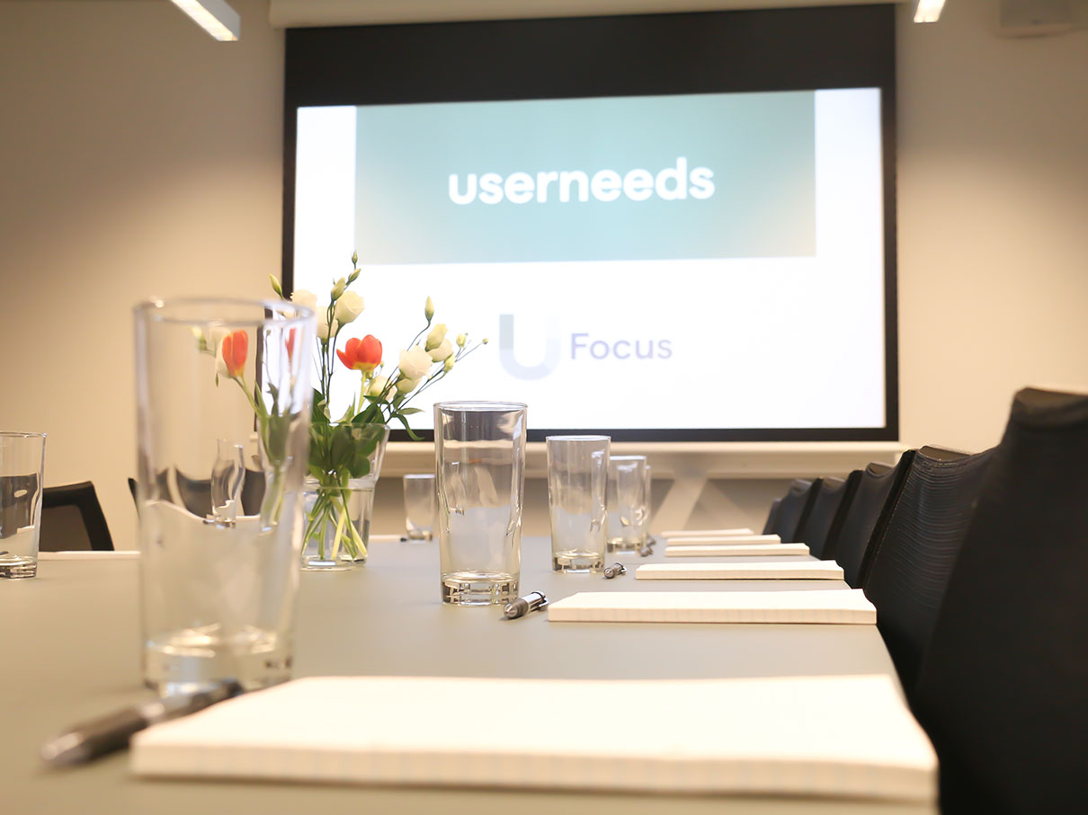Userneeds – focus group room 4