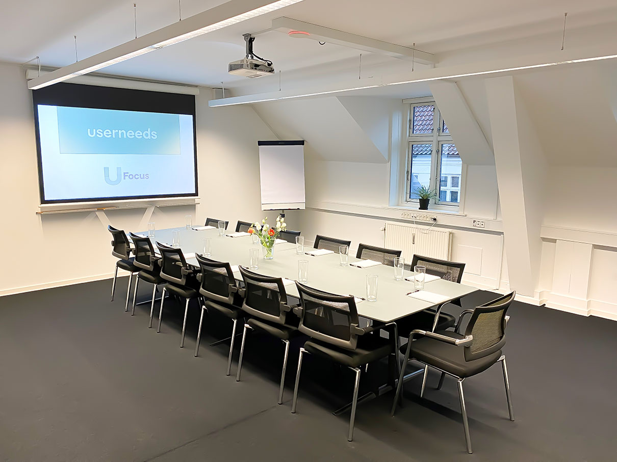 Userneeds – focus group room